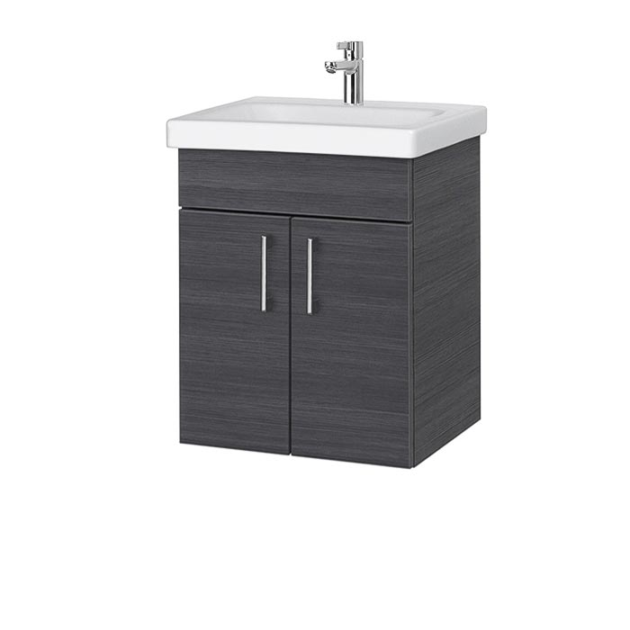 Riva-vonios-kambario-baldai-pakabinama-spintele-su-dviem-durelem-SA49C-18A-su-praustuvu-RIVA50C-arba-RIVA50C-1