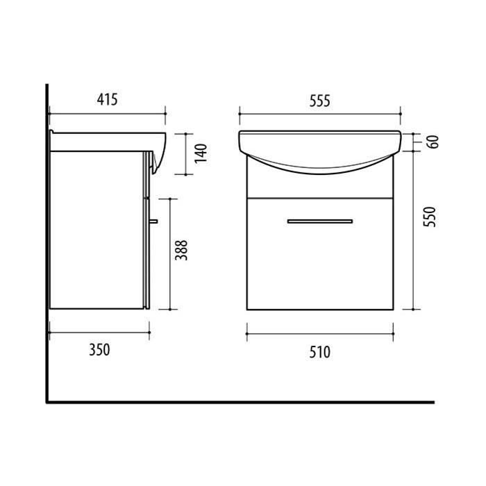 Riva-vonios-kambario-baldai-pakabinama-spintele-su-svelnaus-uzdarymo-stalciumi-SA55-3-su-praustuvu-RIVA55