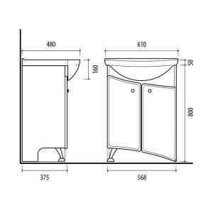 Riva-vonios-kambario-baldai-pastatoma-spintele-su-dviem-durelem-SA60-6-su-praustuvu-RIVA60