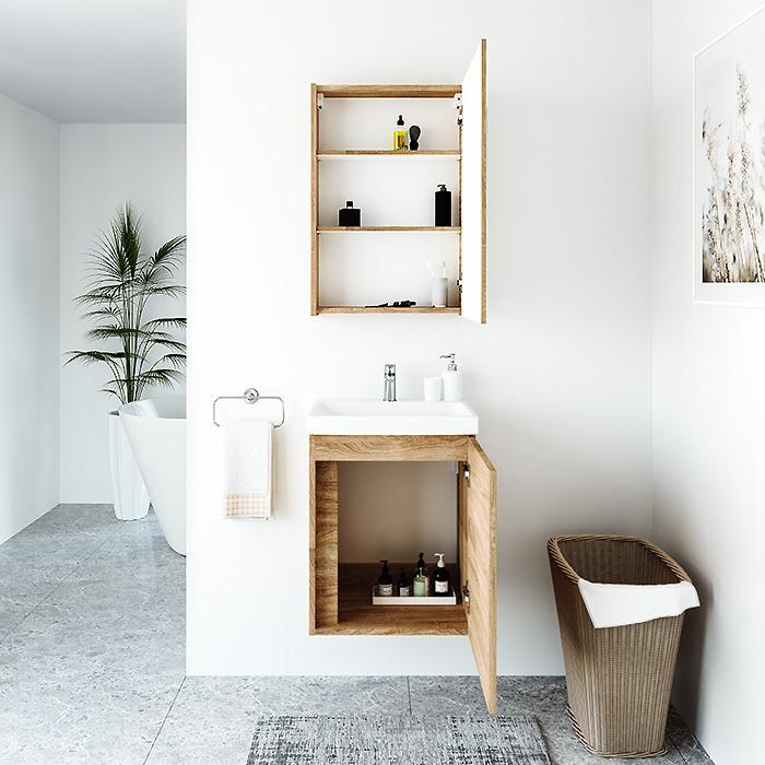 RIVA, vonios kambario baldai, vonios spintelė, SV50A-5E, spintelė su praustuvu, SA50A-5E, praustuvas, RIVA50C-1, RIVA50C