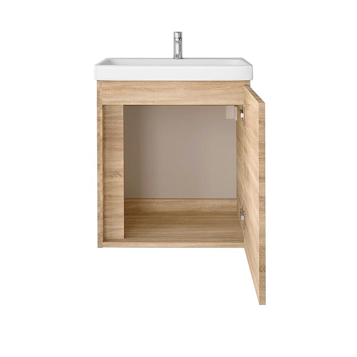Riva-vonios-kambario-baldai-pakabinama-vonios-spintele-su-durelem-SA50A-5E-su-praustuvu-RIVA50C-arba-SA50C-1