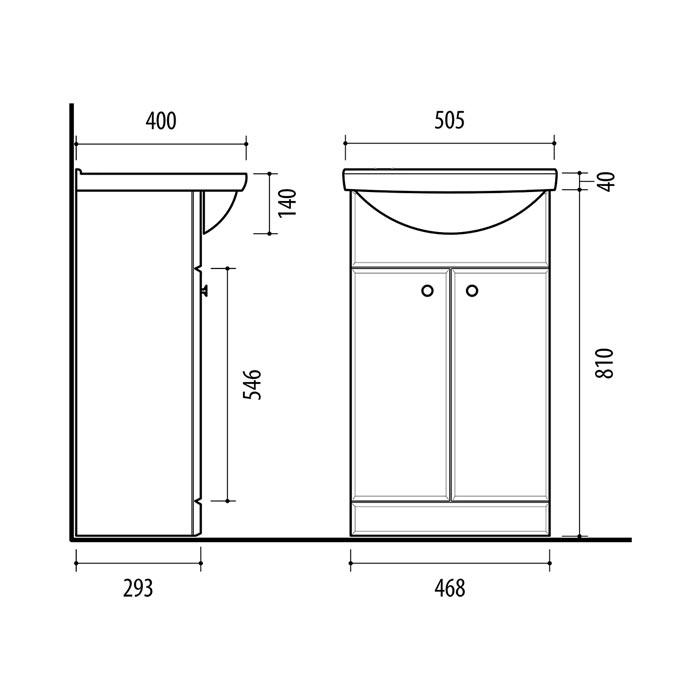 Riva-vonios-kambario-baldai-pastatoma-vonios-spintele-su-dviem-durelem-SA50A-su-praustuvu-RIVA50A