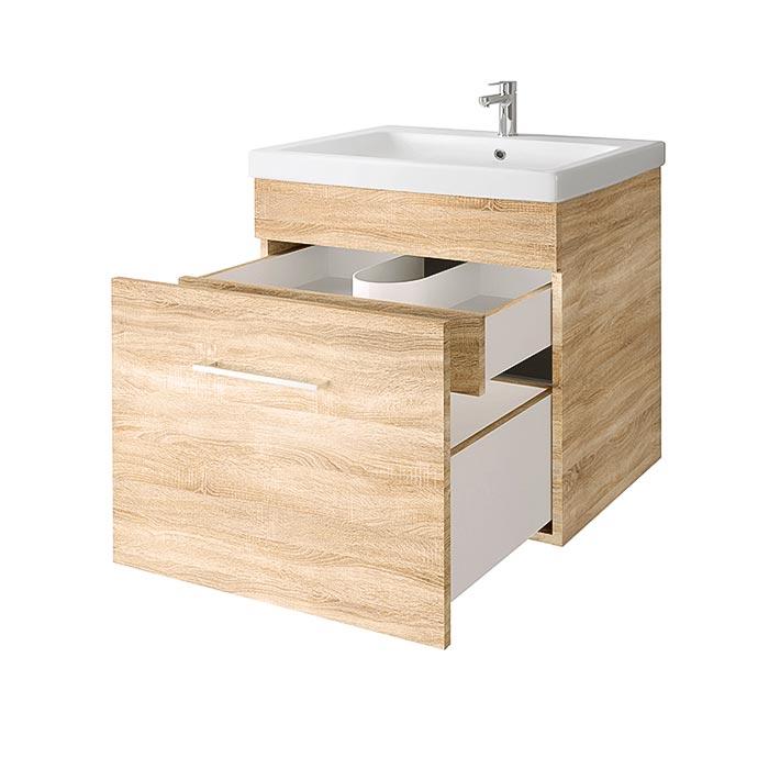 RIVA vonios kambario baldai, vonios spintelė, SA60C-2 Sonoma Oak