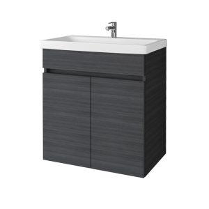 Pakabinama, vonios spintelė, SA63-10E Rigoletto Anthracite, su praustuvu RIVA63 arba RIVA63C