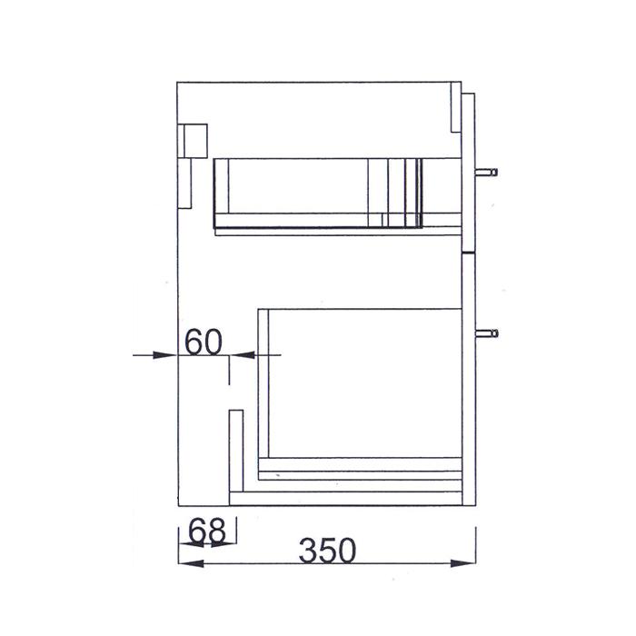 Riva-vonios-kambario-baldai-pakabinama-spintele-su-dviem-stalciais-SA63-2, SA63-8A-su-praustuvu-RIVA63-ir-RIVA63C