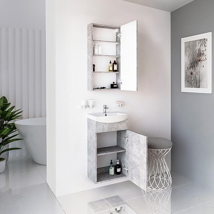 RIVA, vonios spintelė, SV41-11, spintelė su praustuvu, SA44-11, praustuvas, RIVA45