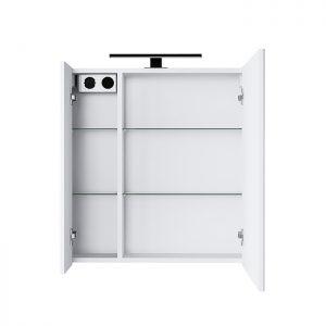 Riva-vonios-kambario-baldai-vonios-spintele-su-dviem-veidrodinem-durelem-LED-sviestuveliu-ir-kistukiniu-lizdu-SV63