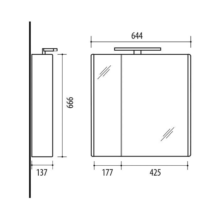RIVA vonios kambario baldai, vonios spintelė, SV63