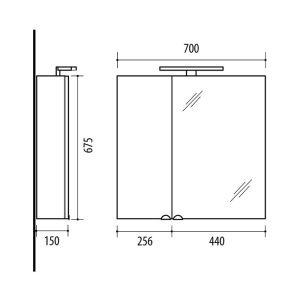 RIVA, vonios kambario baldai, vonios spintelė, SV70-11 Sonoma Oak