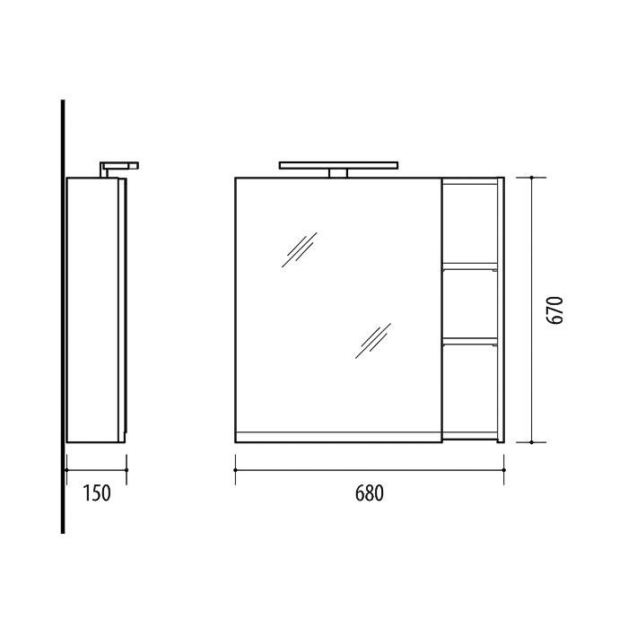 RIVA, vonios kambario baldai, vonios spintelė, SV70-6