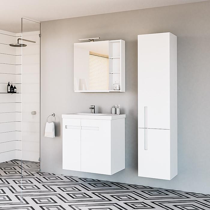 RIVA, vonios spintelė, SV70-8, spintelė su praustuvu, SA70-8, praustuvas, RIVA70D, pakabinama vonios spintelė, SU37