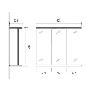 RIVA, vonios kambario baldai, vonios spintelė, SV83