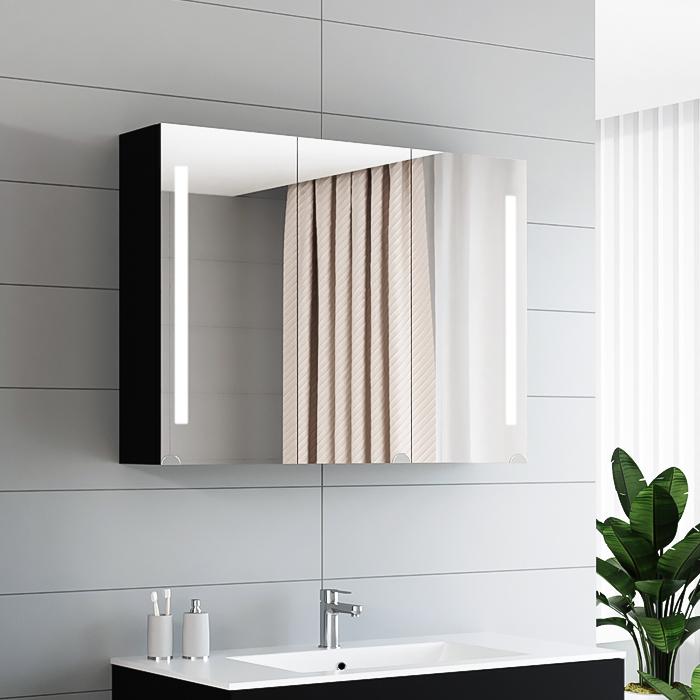 RIVA, vonios kambario baldai, juodos spalvos, vonios spintelė, SV90-1