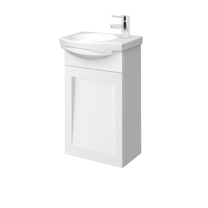 Riva vonios kambario baldai, pakabinama vonios spintelė su praustuvu, SA40F, praustuvas RIVA40