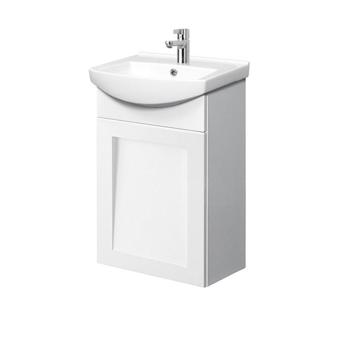 Riva-vonios-kambario-baldai-pakabinama-vonios-spintele-su-durelem-SA45F-su-praustuvu-RIVA45