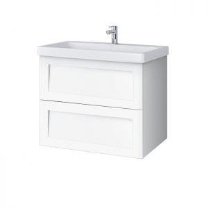 Riva vonios kambario baldai, pakabinama, spintelė su praustuvu, vonios spintele, SA63F, su praustuvu Riva63C