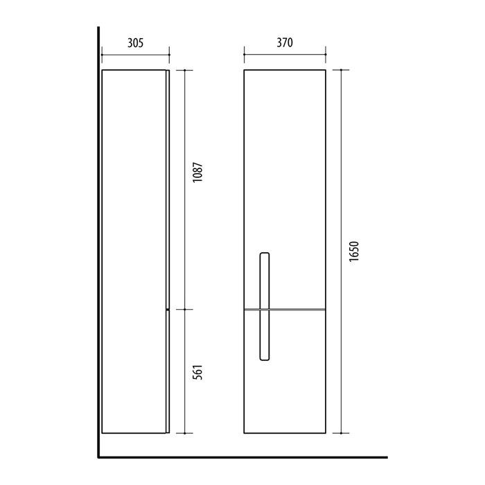 Riva-vonios-kambario-baldai-pakabinama-vonios-spintele-su-vienom-durelem-ir-ifrezuotu-veidrodziu-spinteles-viduje-SU37