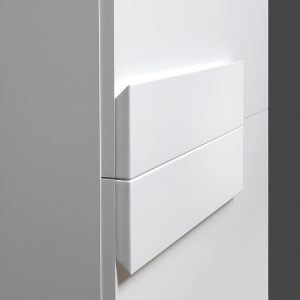 Riva vonios kambario baldai, pakabinama vonios spintele, su dviem durelem, SU38 Decor