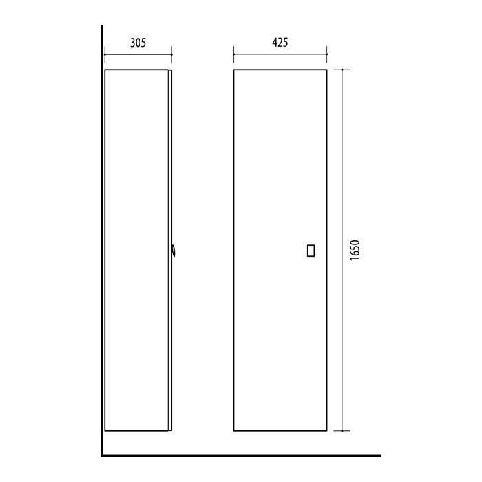 Riva-vonios-kambario-baldai-pakabinama-vonios-spintele-su-vienom-durelem-SU42-11