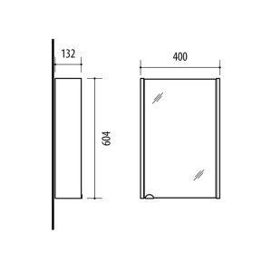 RIVA vonios kambario baldai, vonios spintelė, SV40-18A