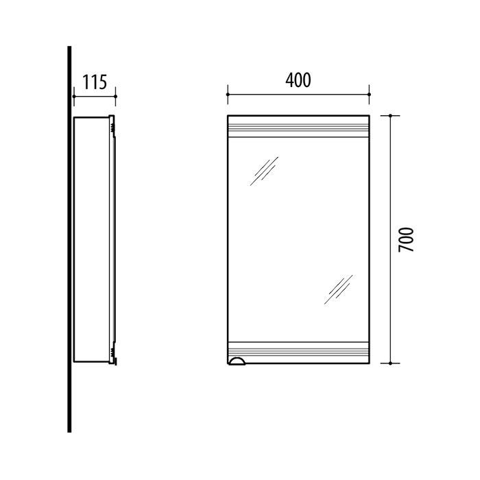 Riva-vonios-kambario-baldai-vonios-spintele-su-veidrodinem-durelem-SV40