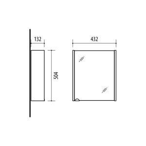 RIVA vonios kambario baldai, vonios spintelė, SV44-18