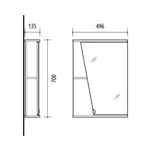 Riva-vonios-kambario-baldai-vonios-spintele-su-veidrodinem-durelem-SV49D