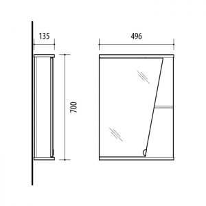Riva-vonios-kambario-baldai-vonios-spintele-su-veidrodinem-durelem-SV49K