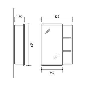 RIVA vonios kambario baldai, vonios spintelė, SV52