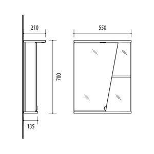RIVA, vonios kambario baldai, vonios spintelė, SV55K
