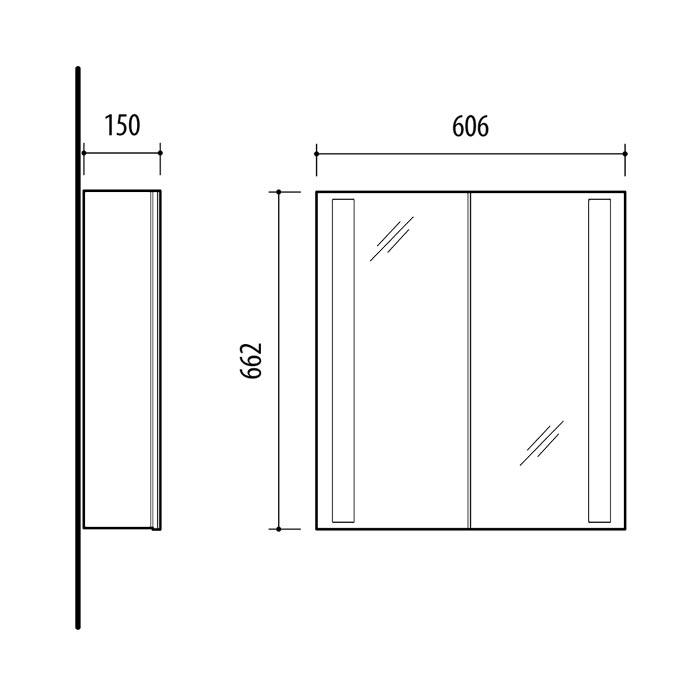 RIVA vonios kambario baldai, vonios spintelė, SV600