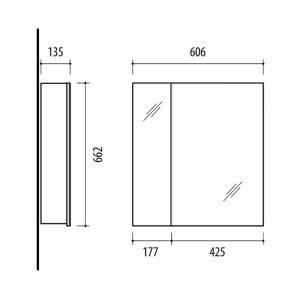 RIVA vonios kambario baldai, vonios spintelė, SV61-1