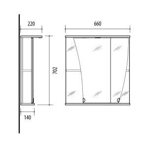 RIVA vonios kambario baldai, vonios spintelė, SV66K