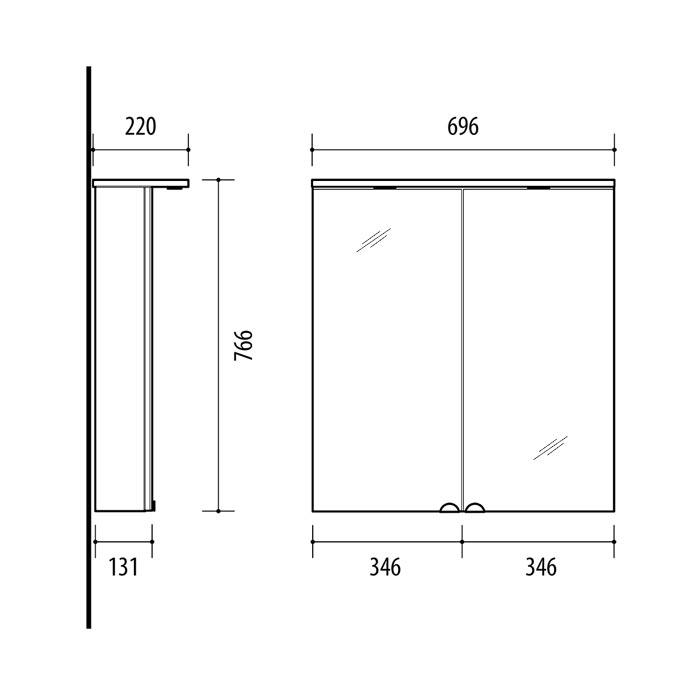 RIVA, vonios kambario baldai, vonios spintelė, SV69