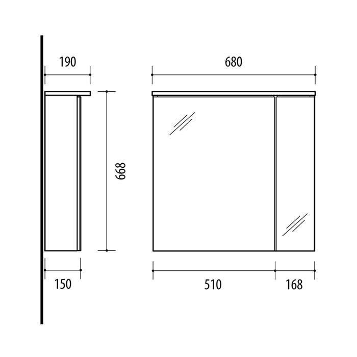 RIVA, vonios kambario baldai, vonios spintelė, SV70F