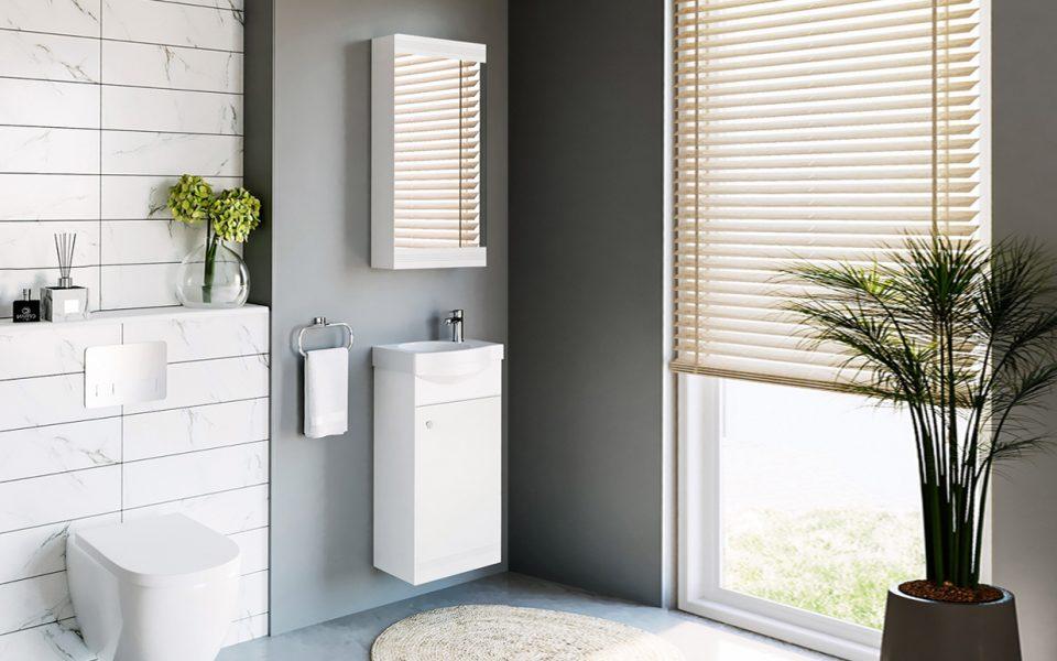 RIVA vonios kambario baldai, White kolekcija