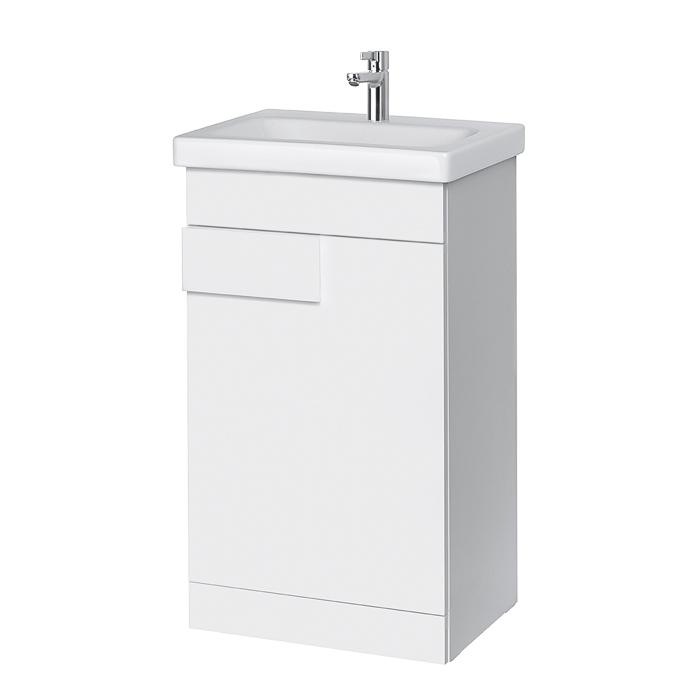 Riva vonios kambario baldai, pastatoma vonios spintelė, SA49C-22, su praustuvu RIVA50C arba RIVA50C-1