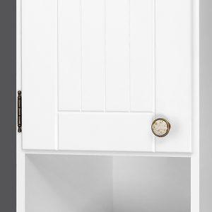 Riva vonios kambario baldai, pastatoma spintelė, su durelėmis ir stalčiumi, SU37R