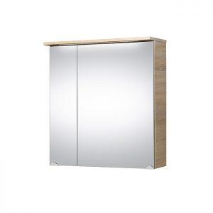 Riva vonios kambario baldai, vonios spintelė, su durelėm, LED apšvietimu, SV60-8 Sonoma Oak