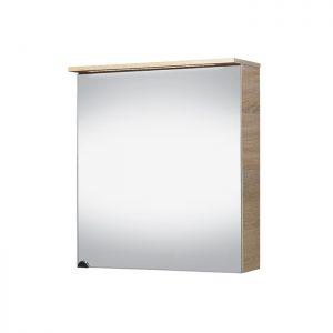 Riva vonios kambario baldai, vonios spintelė, su durelėm, LED apšvietimu, kištukiniu lizdu, SV60C Sonoma Oak