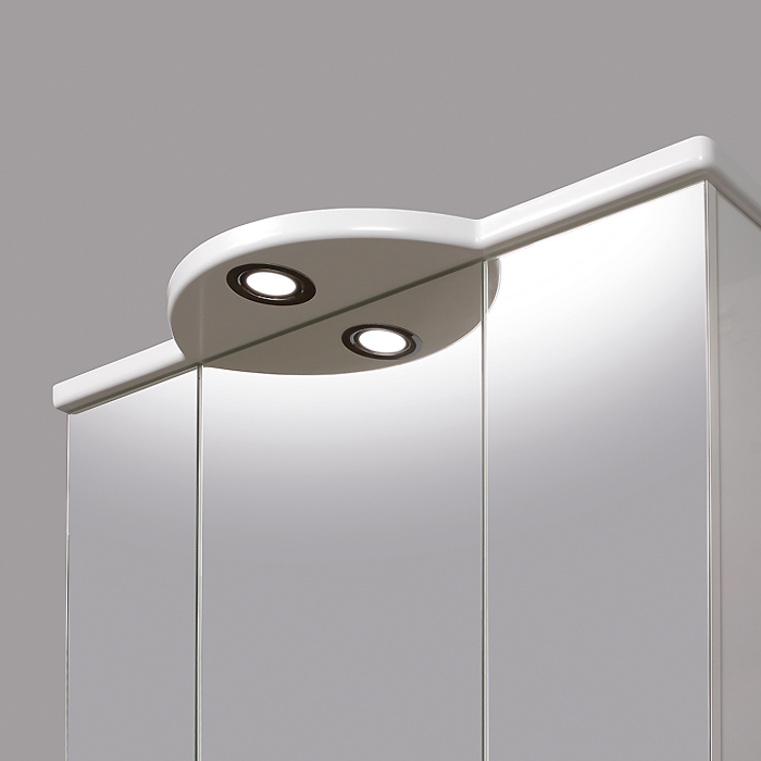 Riva vonios kambario baldai, vonios spintelė, su trim durelėm, LED apšvietimu, SV80-2