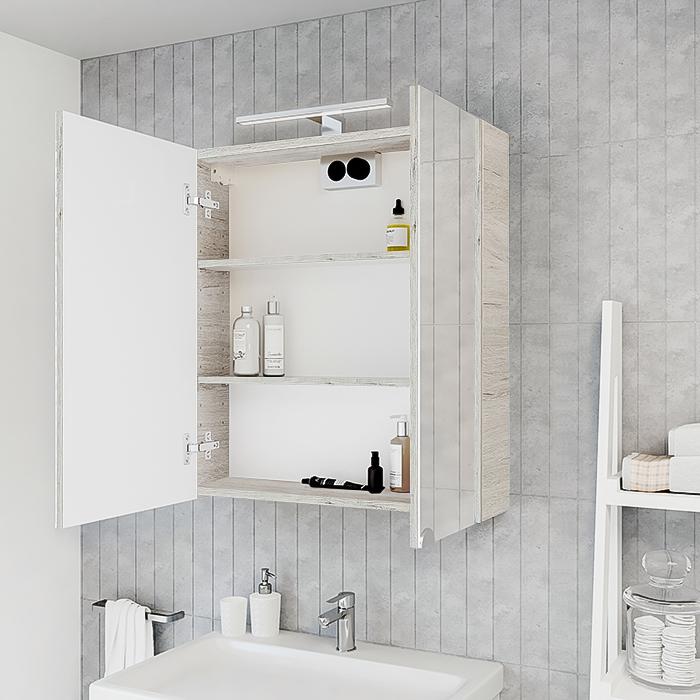 RIVA vonios kambario baldai, veidrodinė spintelė, SV60C-2 Oregon