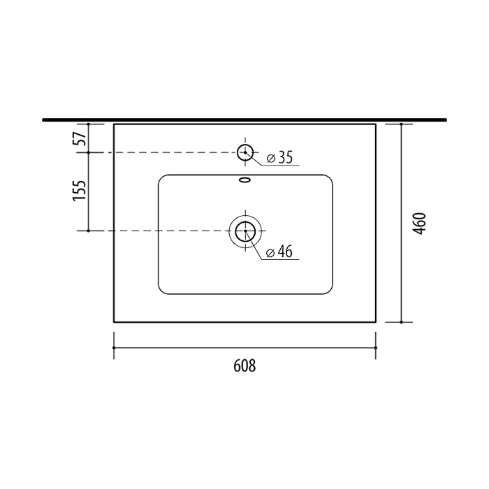 RIVA vonios kambario baldai, keraminis praustuvas, NEVA600