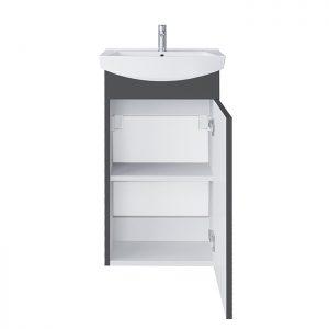 Riva vonios kambario baldai, pakabinama, vonios spintelė, SA45F, praustuvas RIVA45
