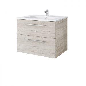 Riva vonios kambario baldai, pakabinama, spintelė su praustuvu, SA600-2, su praustuvu NEVA600