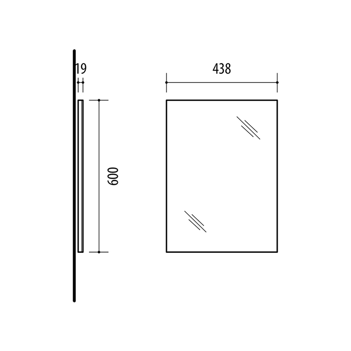 Riva, vonios kambario baldai, veidrodis, SV60V