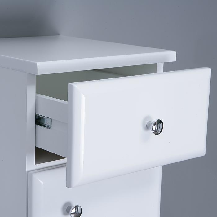Riva vonios kambario baldai, pastatoma spintelė, su durelėm ir stalčiumi UA30-2