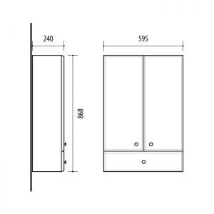 Riva vonios kambario baldai, pakabinama spintelė, UV59-1