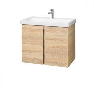 Riva vonios kambario baldai, pakabinama, vonios spintelė, SA63-7, su praustuvu Riva63C