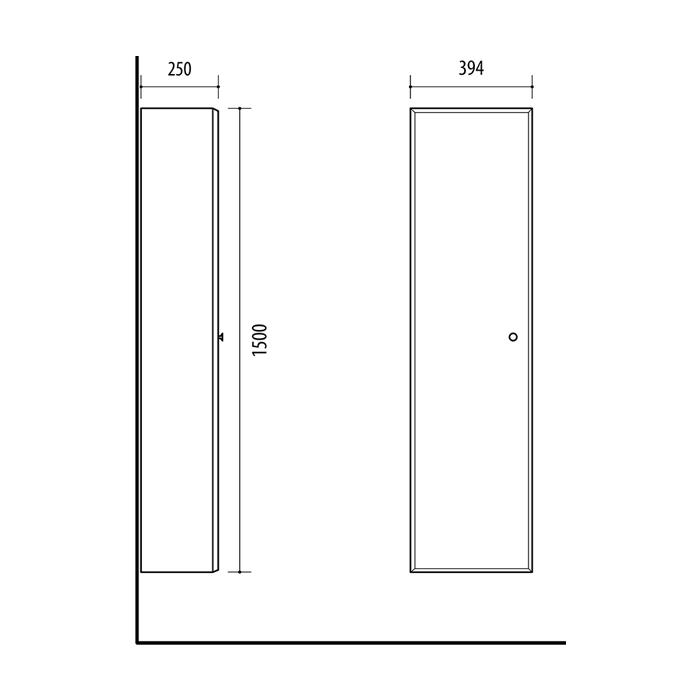 RIVA, vonios kambario baldai, pastatoma vonios spintelė, SU39